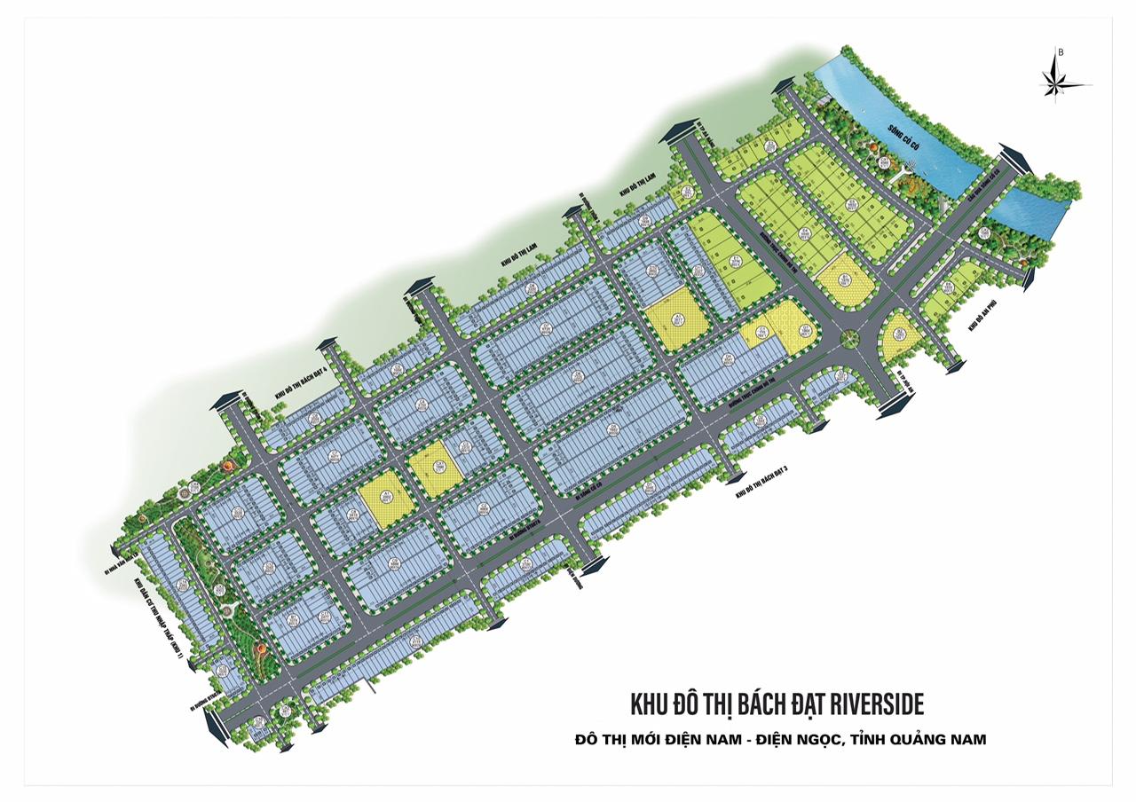 Mặt bằng tổng thể dự án khu đô thị Bách Đạt Riverside tỉnh Quảng Nam