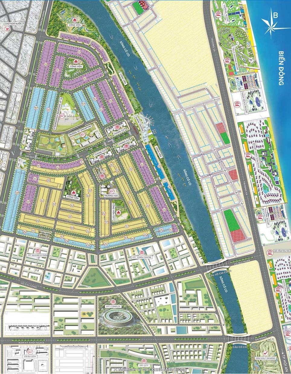 Mặt bằng tổng thể dự án khu phức hợp One River Đà Nẵng
