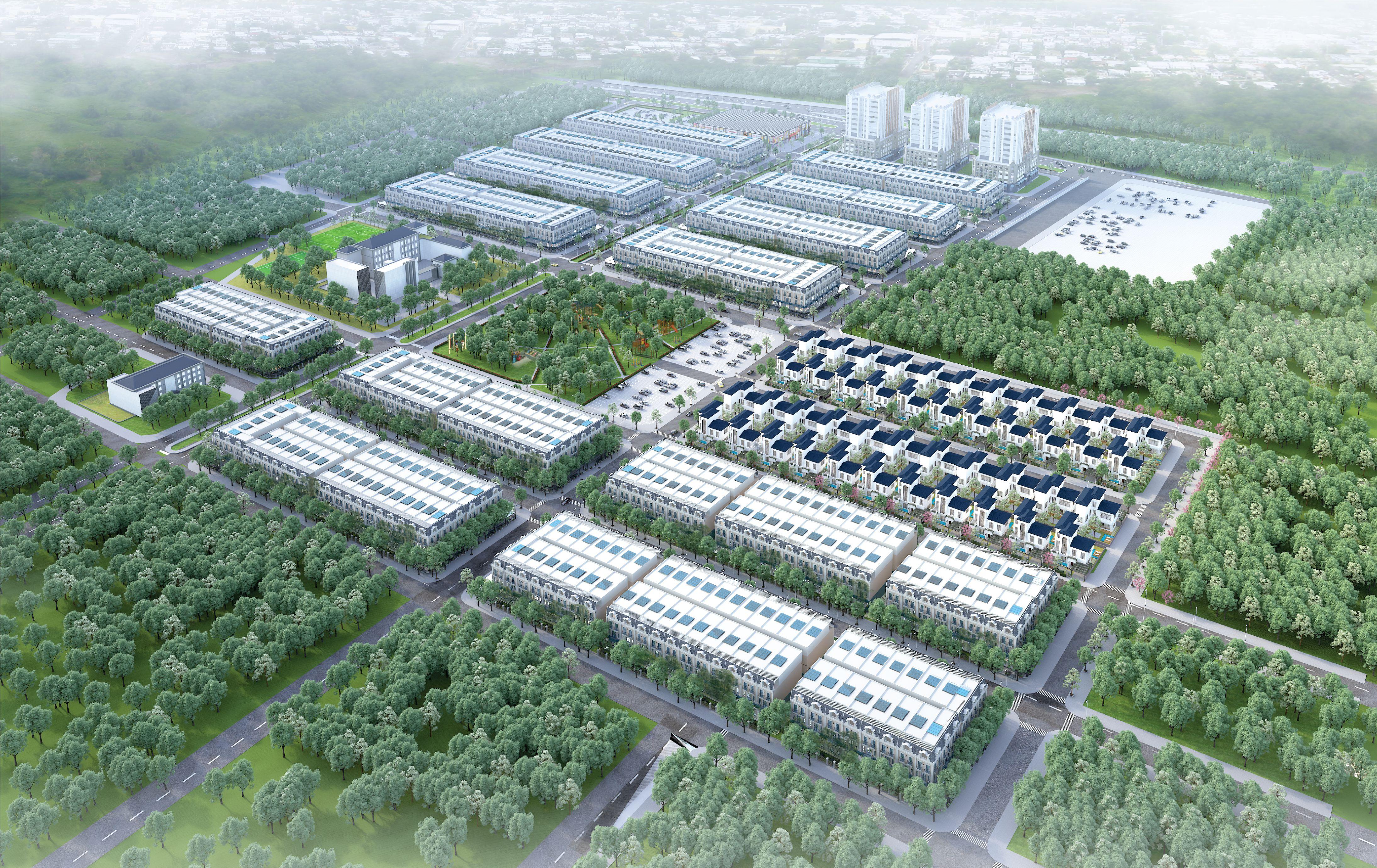 Phối cảnh tổng thể dự án Uông Bí New City