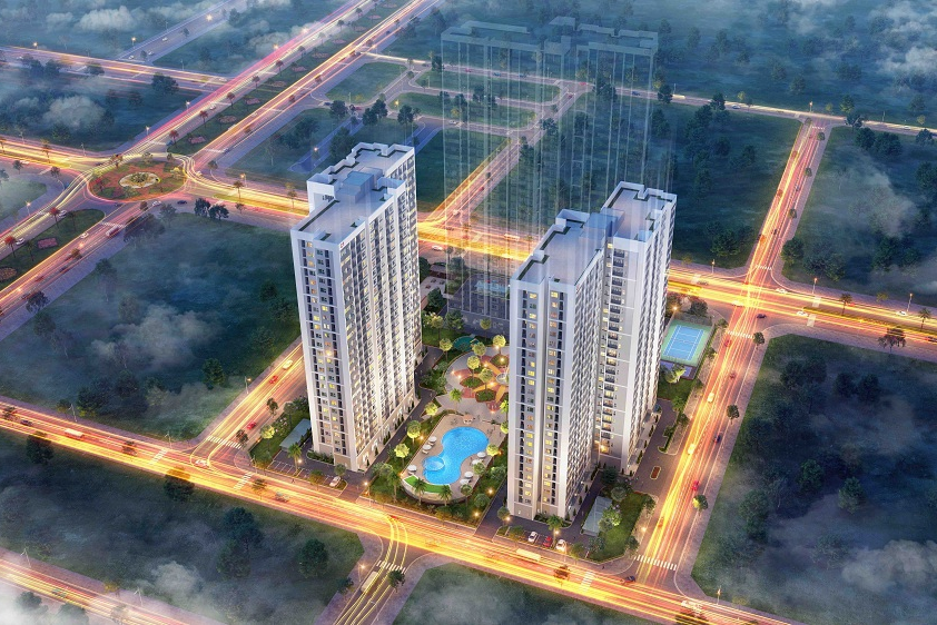 Phối cảnh tổng thể dự án Vinhomes New Center Hà Tĩnh