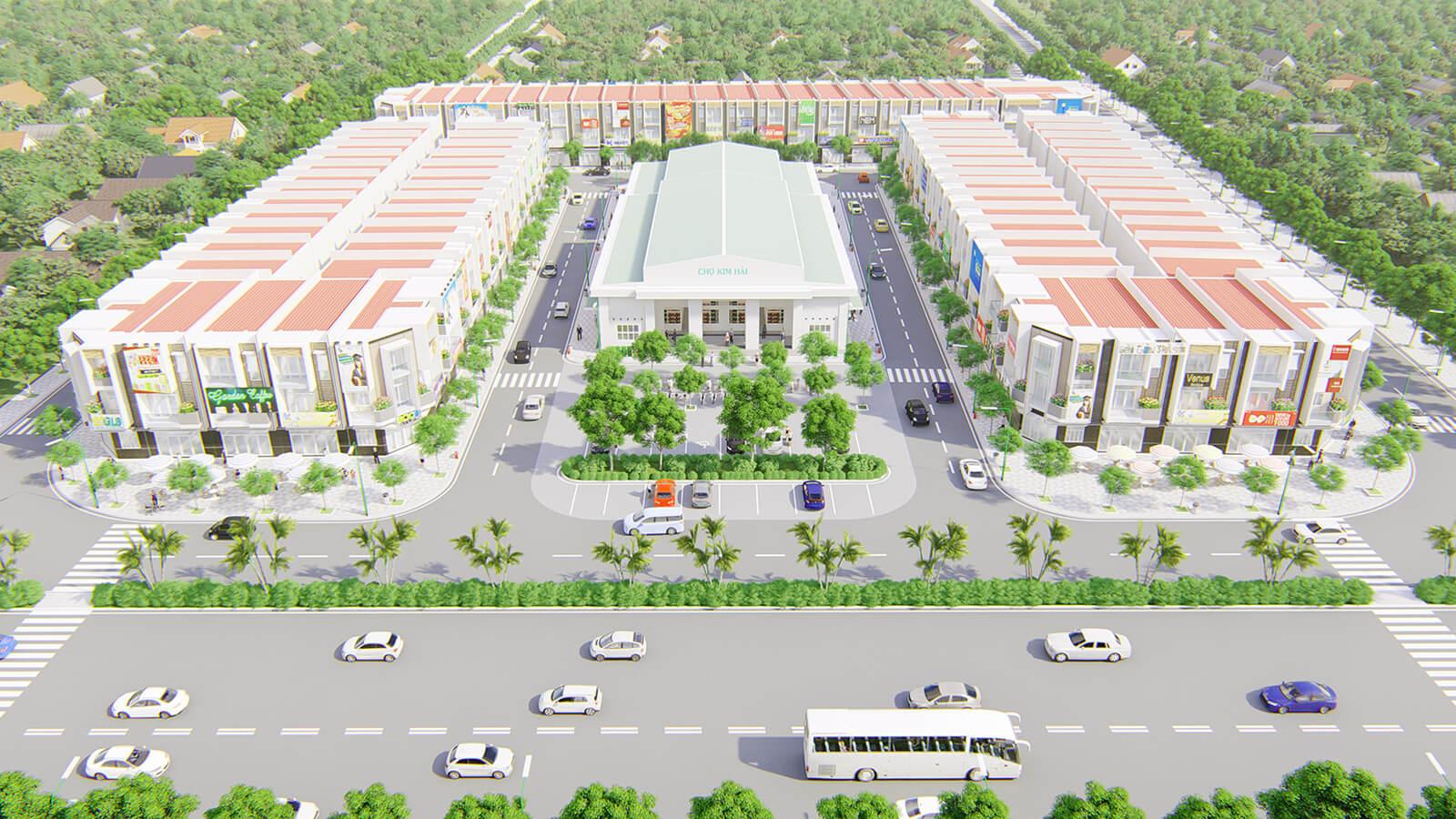 Phối cảnh tổng thể dự án đất nền Rich Central tỉnh Bà Rịa – Vũng Tàu