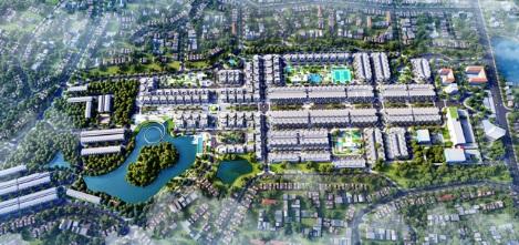 Phối cảnh tổng thể dự án Thái Hưng Eco City Thái Nguyên