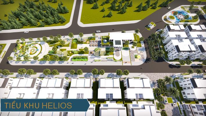 Phối cảnh tiểu khu Helios trong tổng thể dự án Thái Hưng Eco City