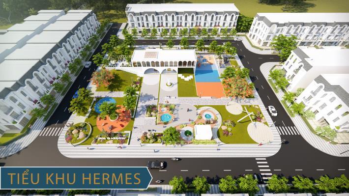 Phối cảnh tiểu khu Hermes trong tổng thể tổ hợp Thái Hưng Eco City