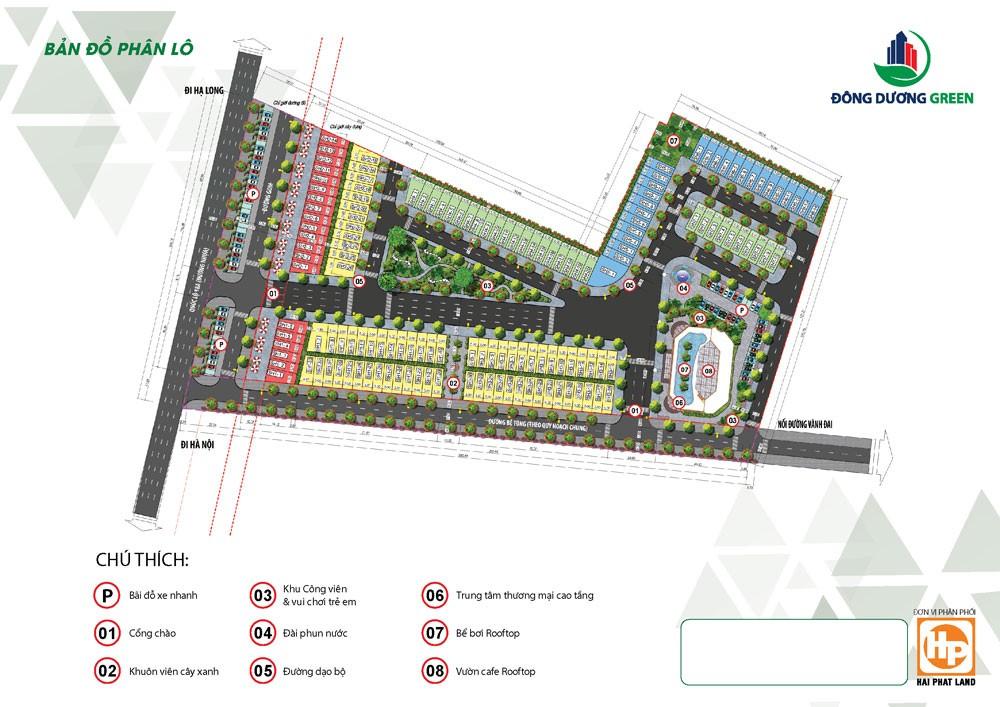 Mặt bằng phân lô dự án Đông Dương Green