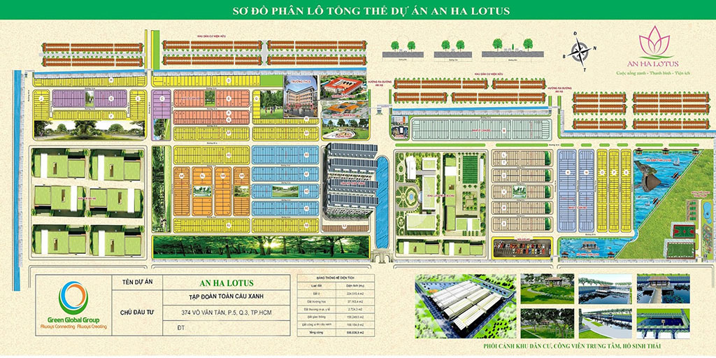Mặt bằng phân lô khu dân cư An Hạ Lotus huyện Bình Chánh