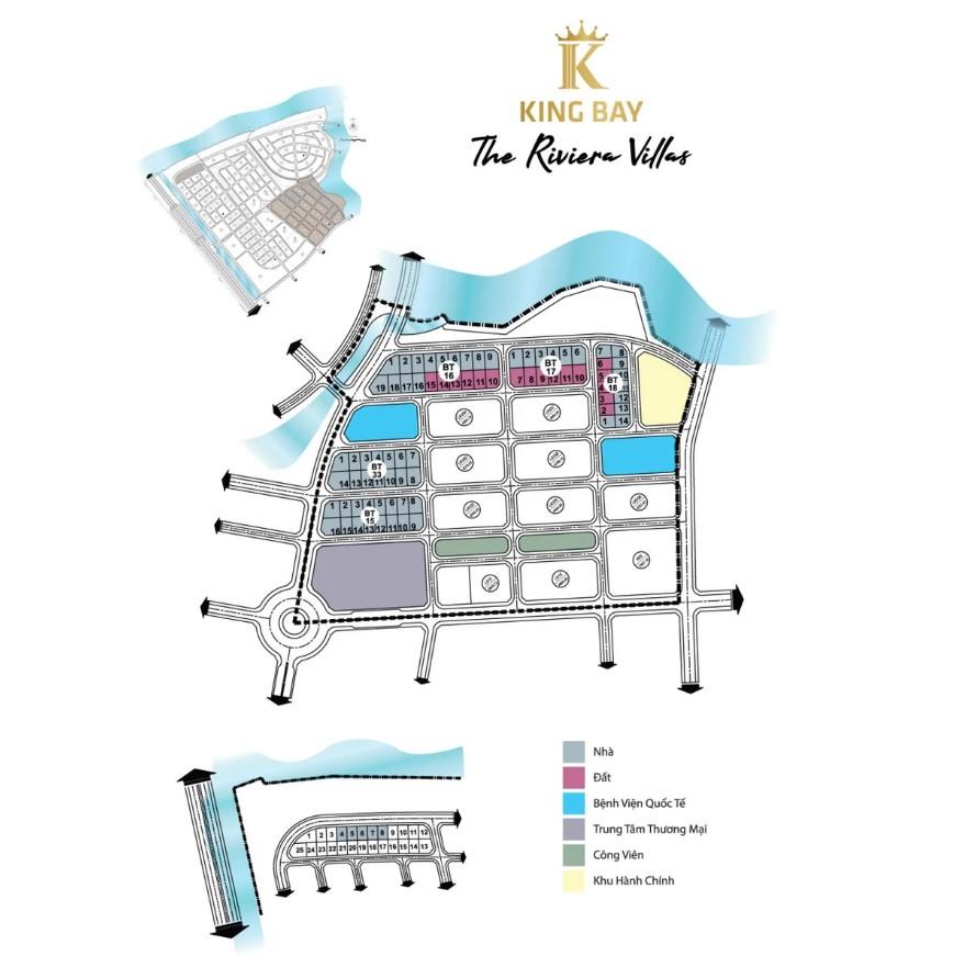 Mặt bằng tổng thể phân khu The Riviera Villas – Tổ hợp khu đô thị King Bay Đồng Nai