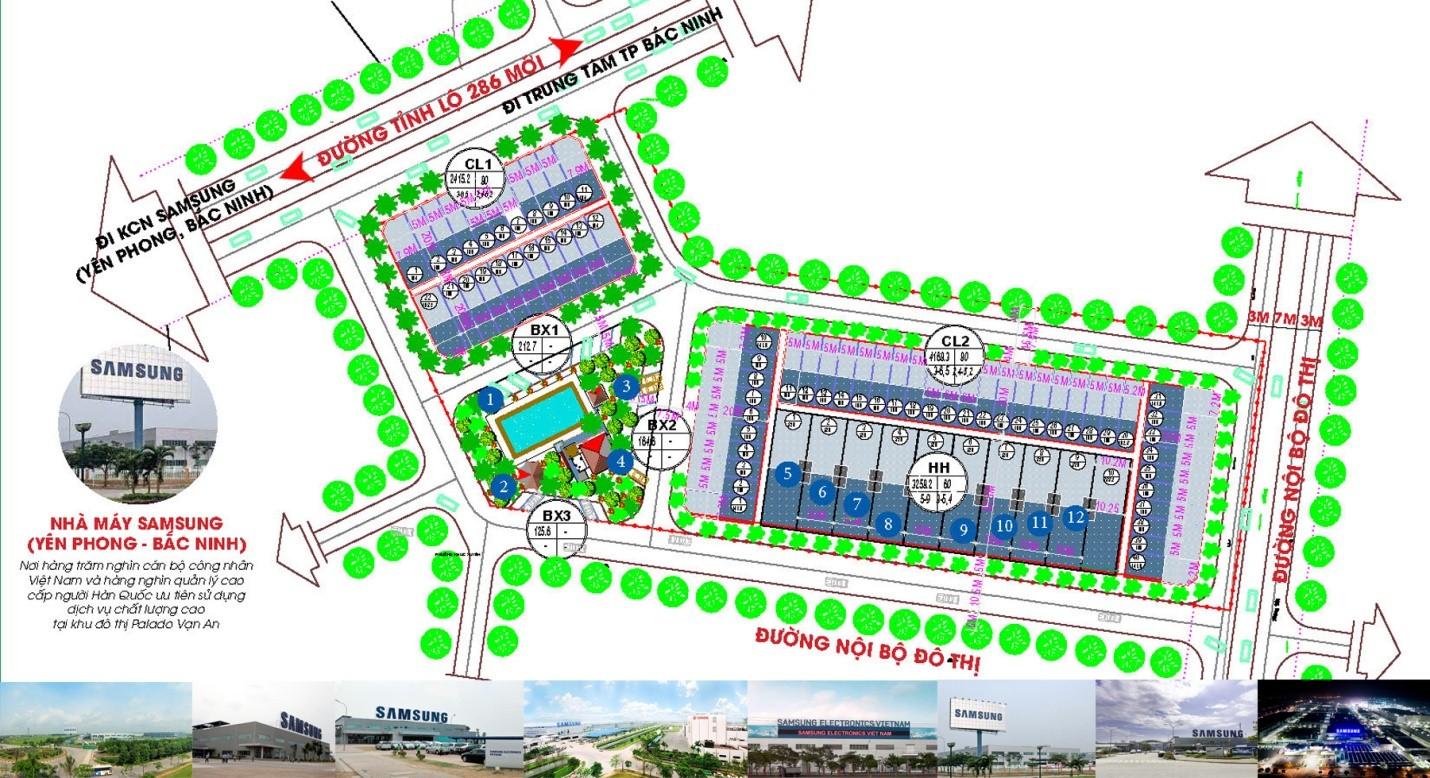 Tiểu khu Đinh Hương có diện tích hơn 1,9ha, bao gồm 72 lô nhà phố, nhà ở hỗn hợp.