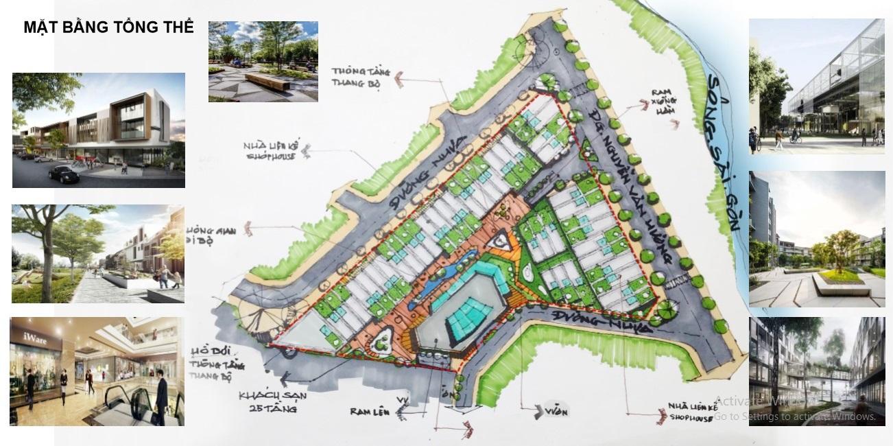 Mặt bằng tổng thể dự án King Crown Village quận 2