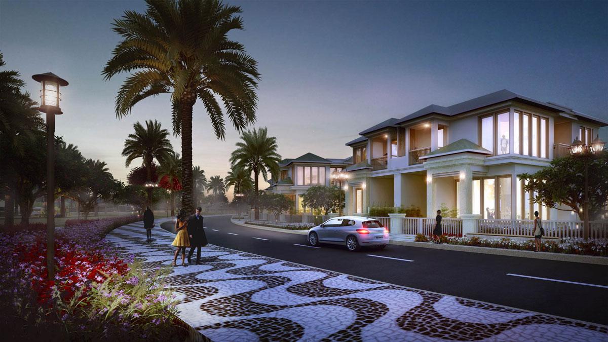 Phối cảnh các căn biệt thự của dự án Senturia Nam Sài Gòn