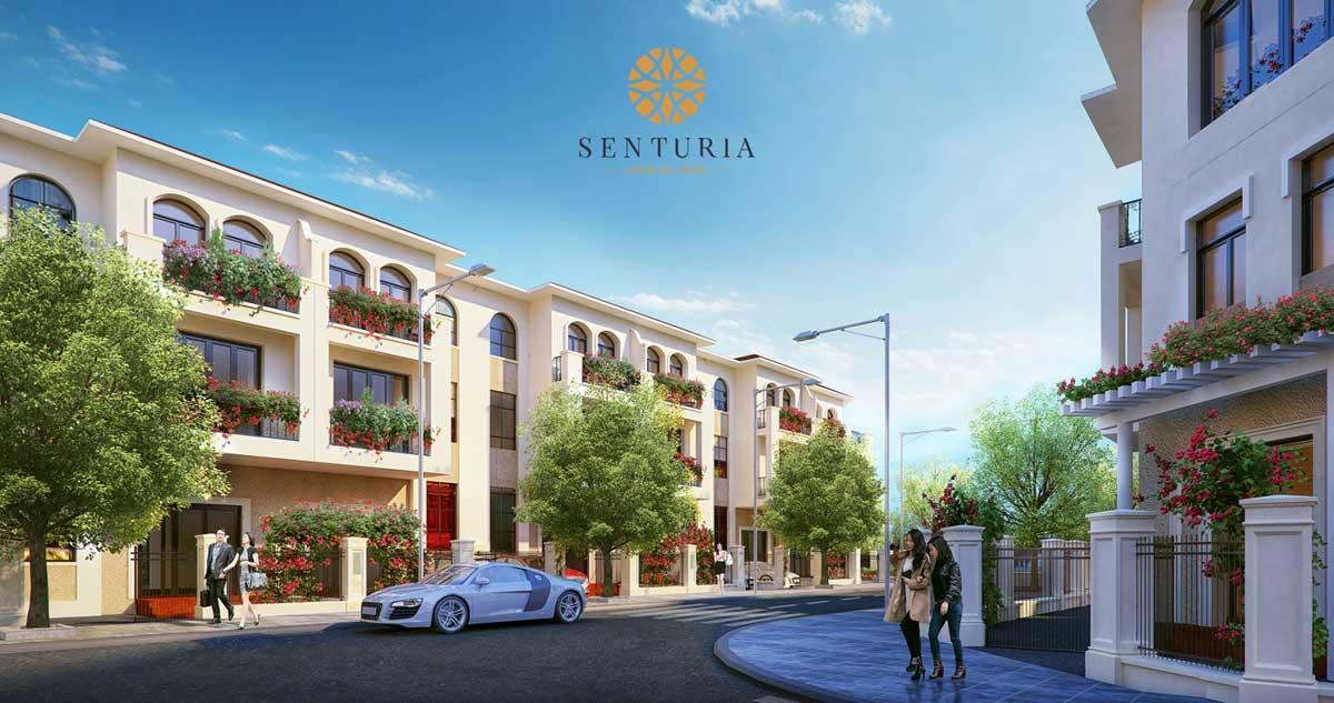 Phối cảnh khu nhà phố liền kề tại dự án Senturia Nam Sài Gòn