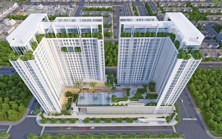 Phối cảnh tổng thể dự án căn hộ Hậu Giang Pearl quận 2