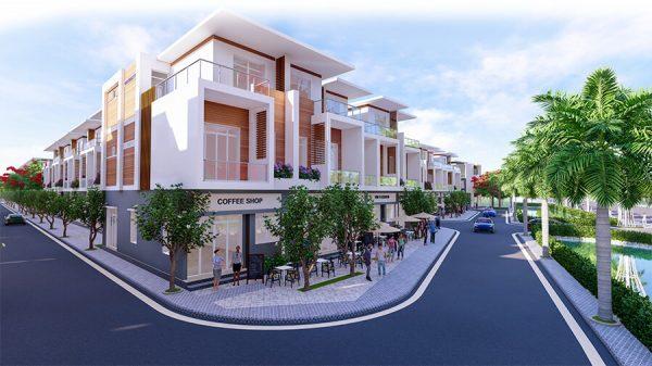 Phối cảnh nhà phố dự án The Residence 1 Củ Chi
