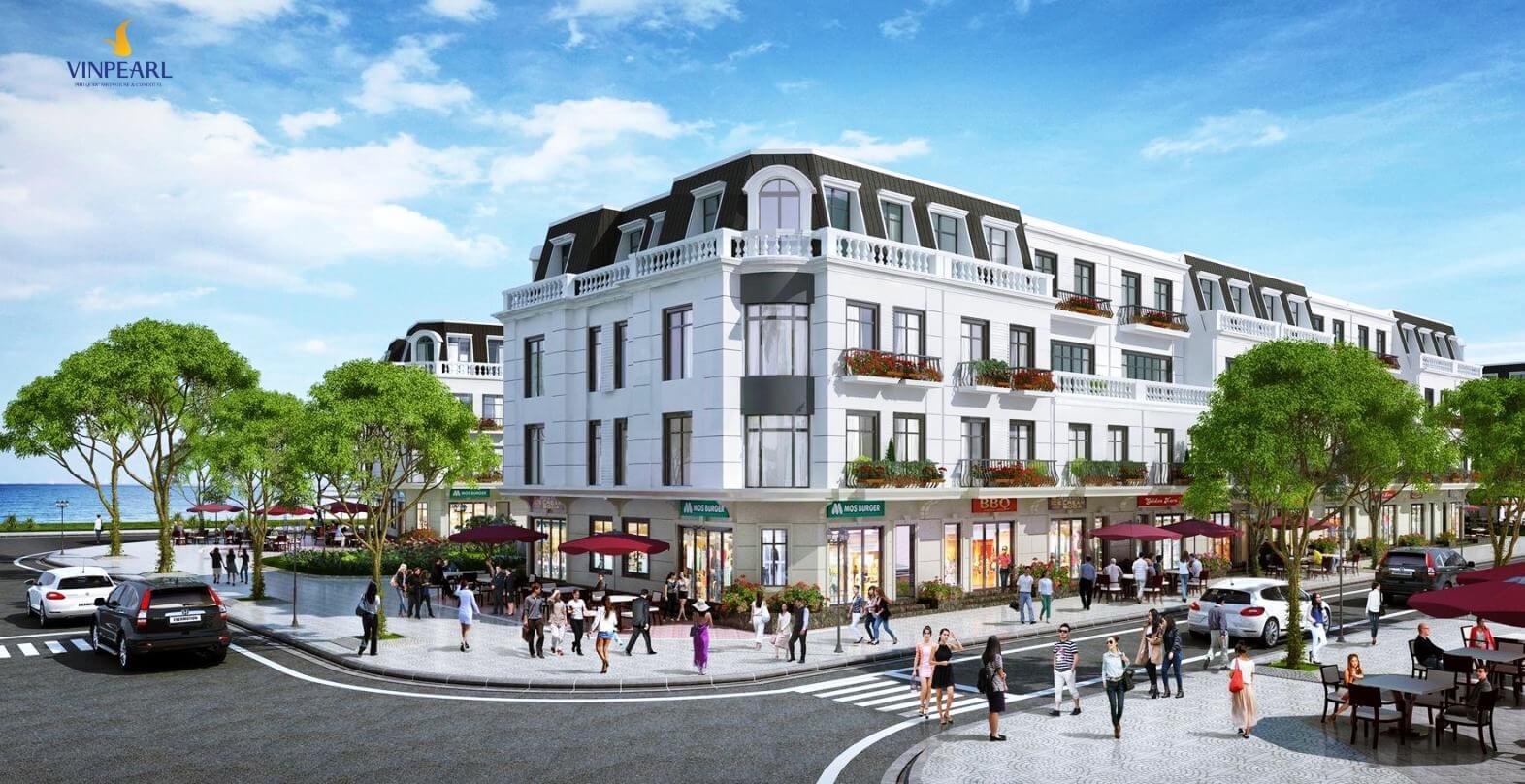 Phối cảnh nhà phố thương mại Vinpearl Phú Quốc