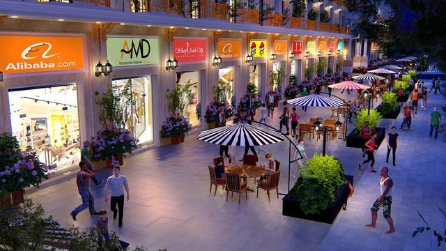 Phối cảnh shophouse dự án Đông Dương Green