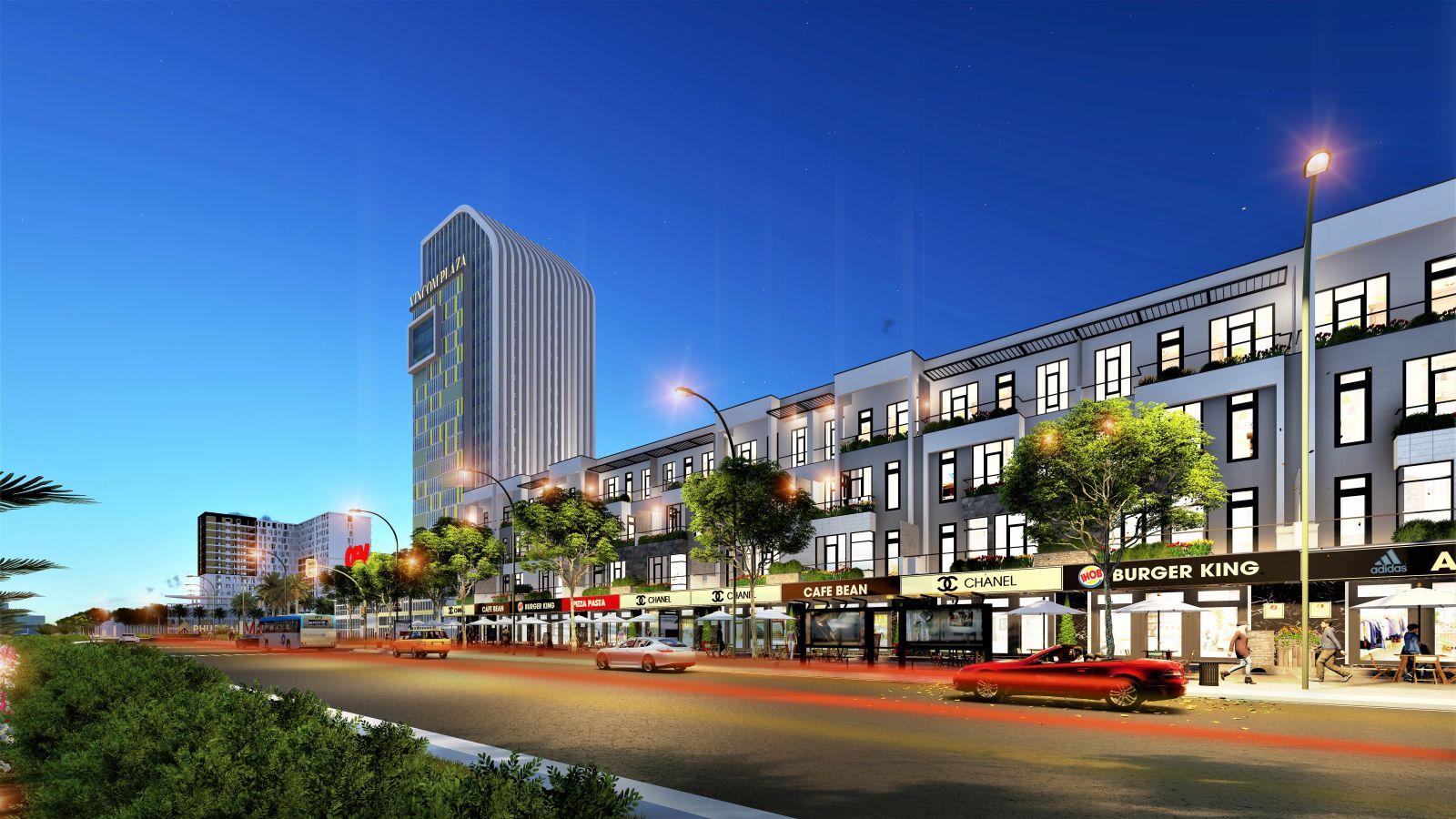 Phối cảnh tổng thể phân khu shophouse Special Gold – khu đô thị Kim Long City