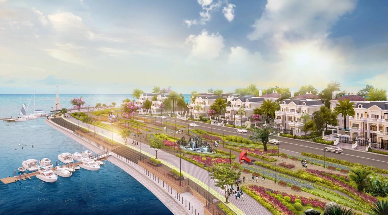 Phối cảnh tổng thể phân khu biệt thự The Riviera Villas – Tổ hợp khu đô thị King Bay Đồng Nai