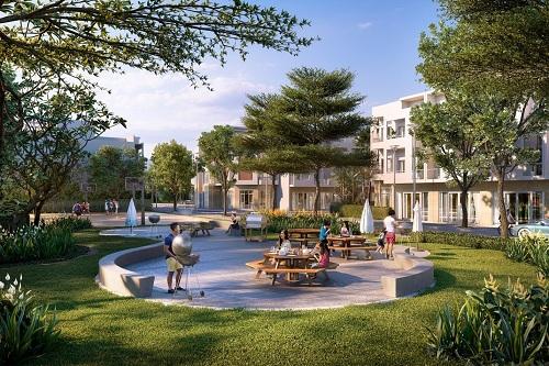 Phối cảnh công viên nội khu dự án Phát Đạt Bàu Cả