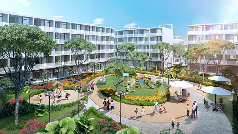Phối cảnh công viên tại dự án nghỉ dưỡng FLC Lux City Quy Nhơn
