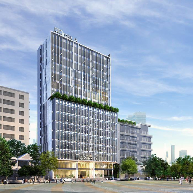 Phối cảnh tòa cao ốc văn phòng Park IX quận Tân Bình