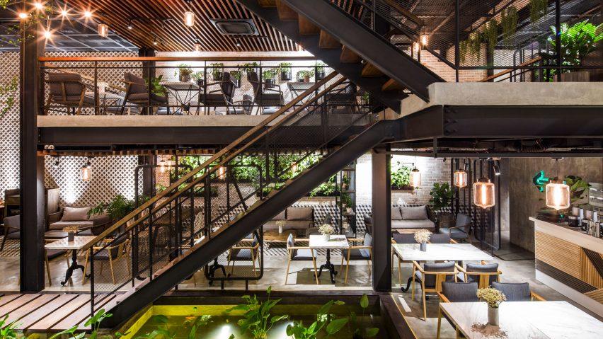 Phối cảnh khuôn viên quán coffee tại tầng 9