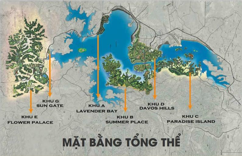 Mặt bằng tổng thể dự án khu đô thị Nam Đà Lạt