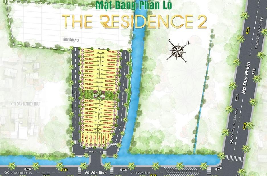 Mặt bằng phân lô dự án khu dân cư The Residence 2