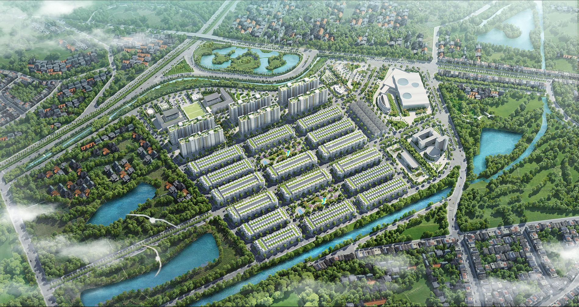 Phối cảnh tổng thể dự án Him Lam Green Park Bắc Ninh