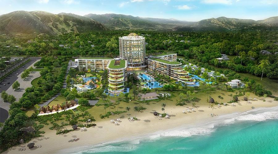 Phối cảnh tổng thể khu nghỉ dưỡng InterContinental Phu Quoc Long Beach Resort