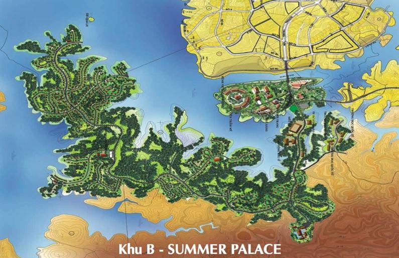 Phối cảnh khu B – Summer Palace