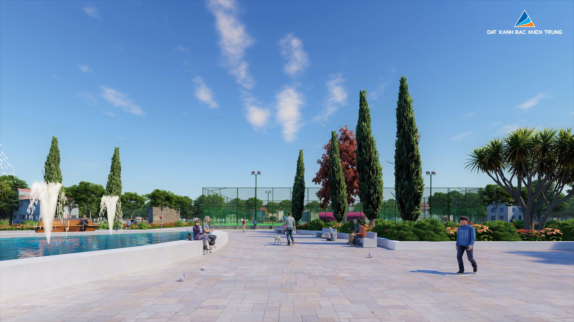 Phối cảnh khu liên hợp thể thao dự án Eco Garden