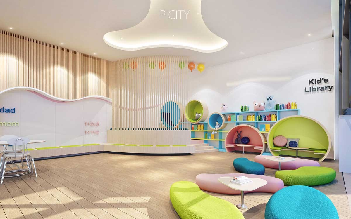 Phối cảnh khu nhà trẻ dự án PiCity