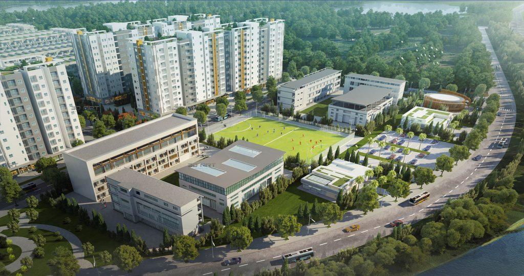 Phối cảnh khu thể dục thể thao dự án Him Lam Green Park