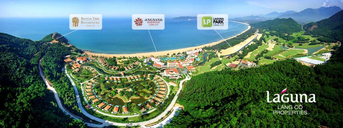 Phối cảnh tổng thể dự án biệt thự Laguna Lăng Cô
