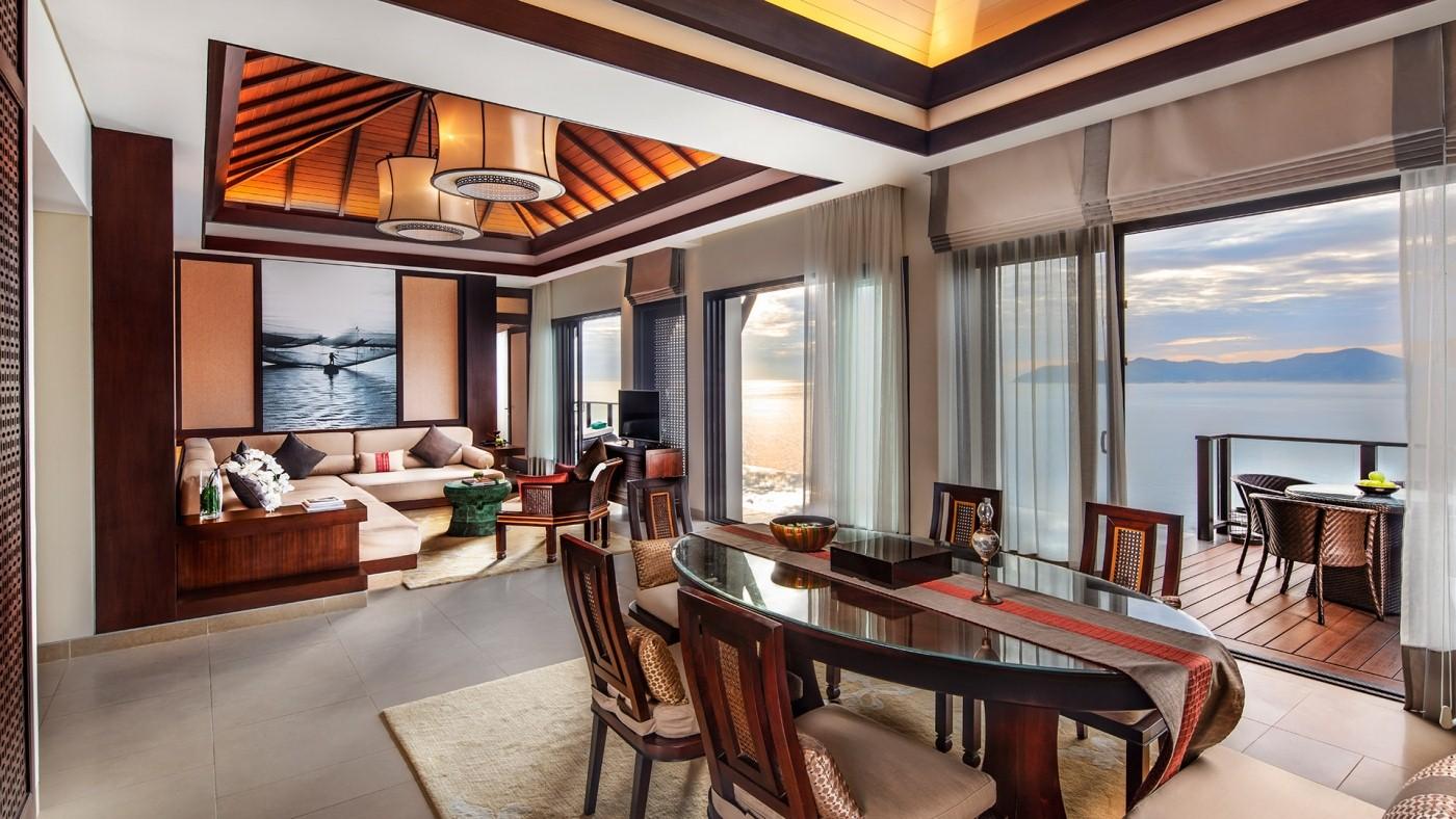 Phòng khách biệt thự mẫu Banyan Tree Residences loại 3 phòng ngủ
