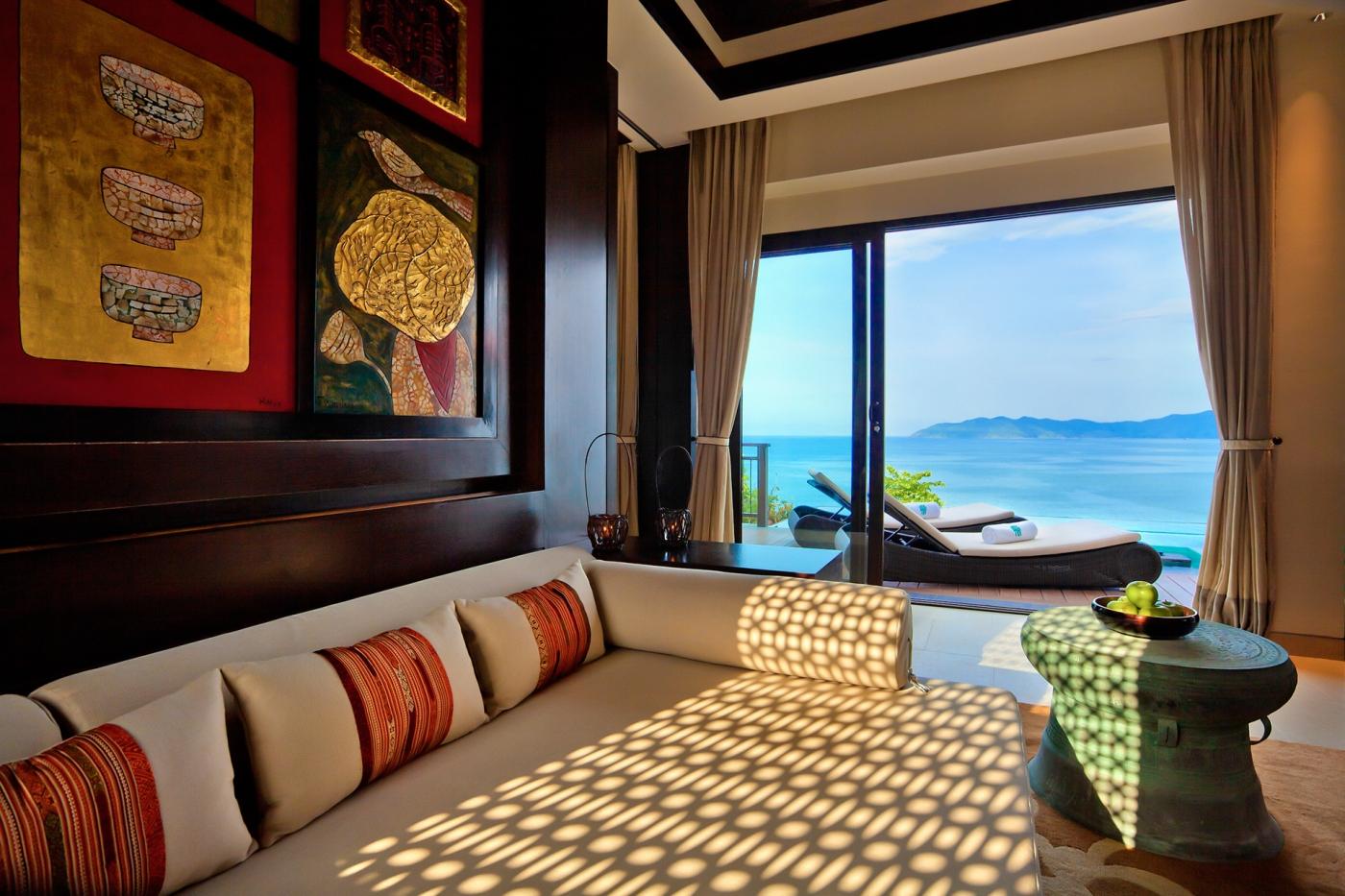 Phòng khách căn biệt thự (loại 1 phòng ngủ) Banyan Tree Residences