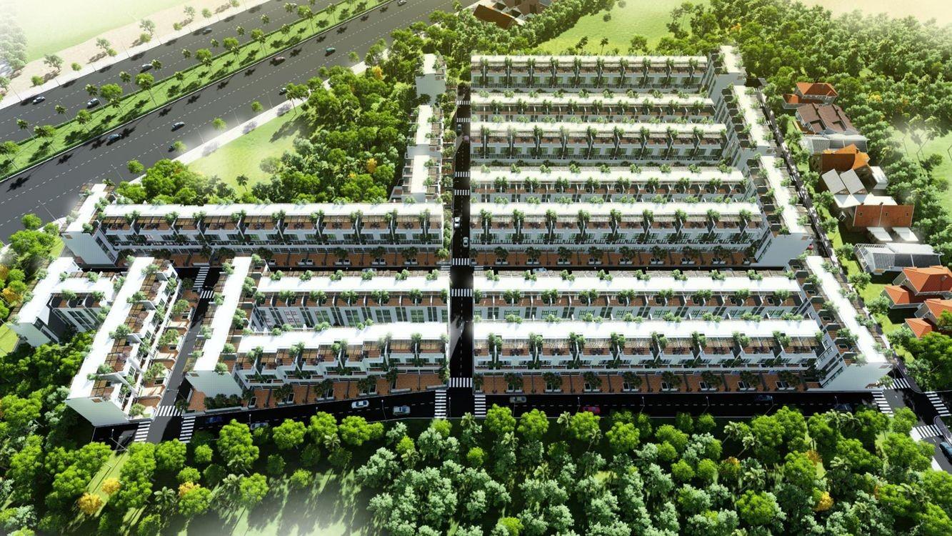 Phối cảnh cổng chào dự án khu dân cư Phú Hòa Đông