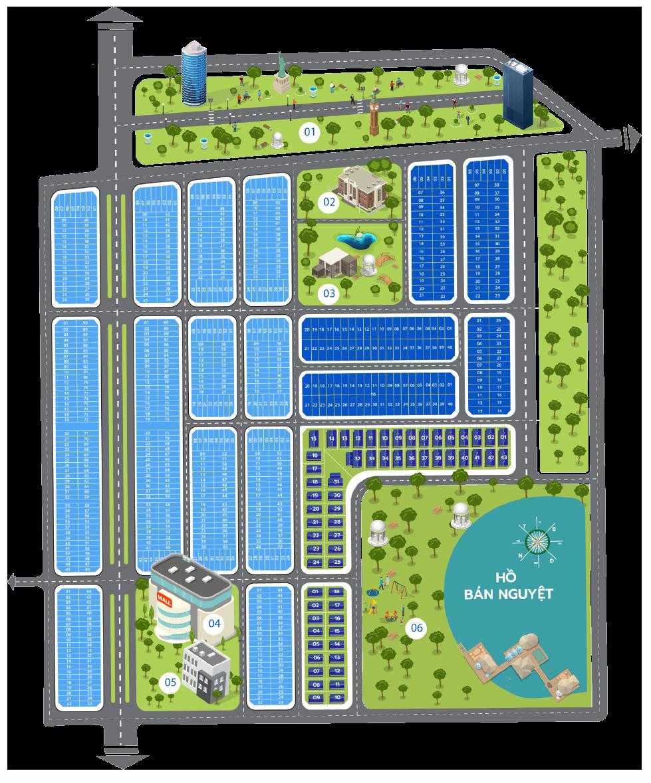 Mặt bằng dự án khu đô thị Sapphia Villas Long An