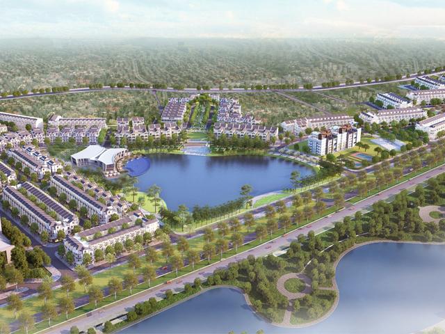 Phối cảnh tổng thể khu đô thị Bách Việt Lake Garden Bắc Giang