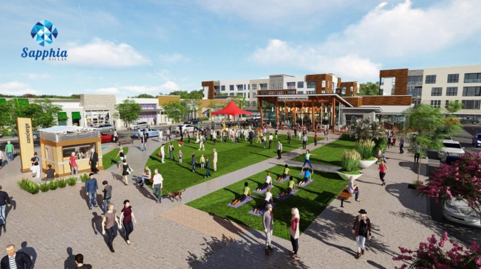 Phối cảnh khu trường học nội khu dự án Sapphia Villas Long An