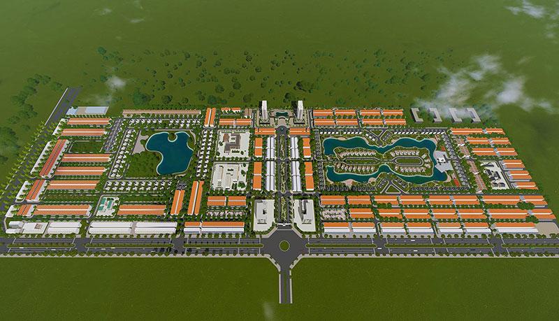 Phối cảnh tổng thể khu đô thị New City Phố Nối
