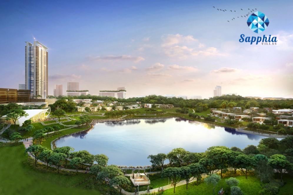 Phối cảnh dự án khu đô thị Sapphia Villas Long An