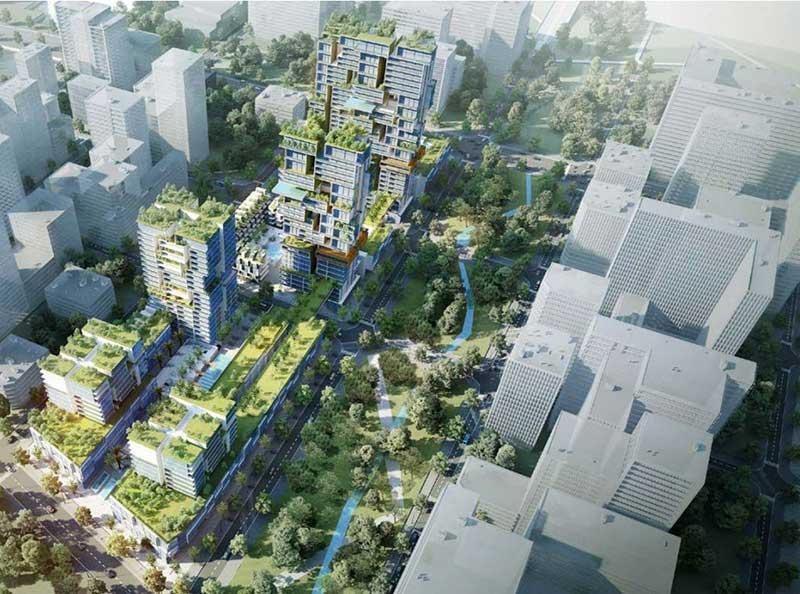 Phối cảnh khu căn hộ Xi Thủ Thiêm quận 2