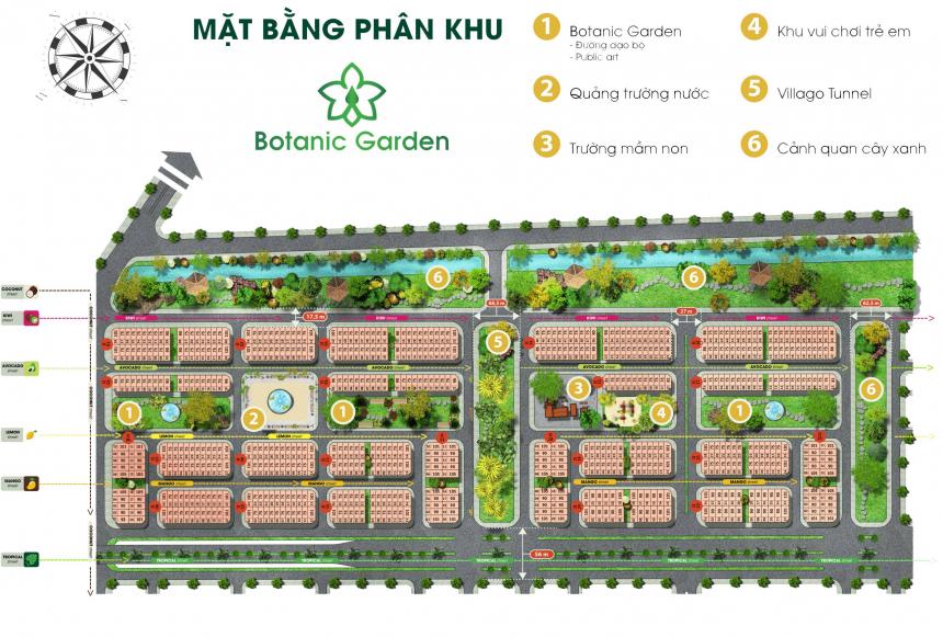 Mặt bằng phân khu Botanic Garden dự án nghỉ dưỡng FLC Tropical City Hạ Long