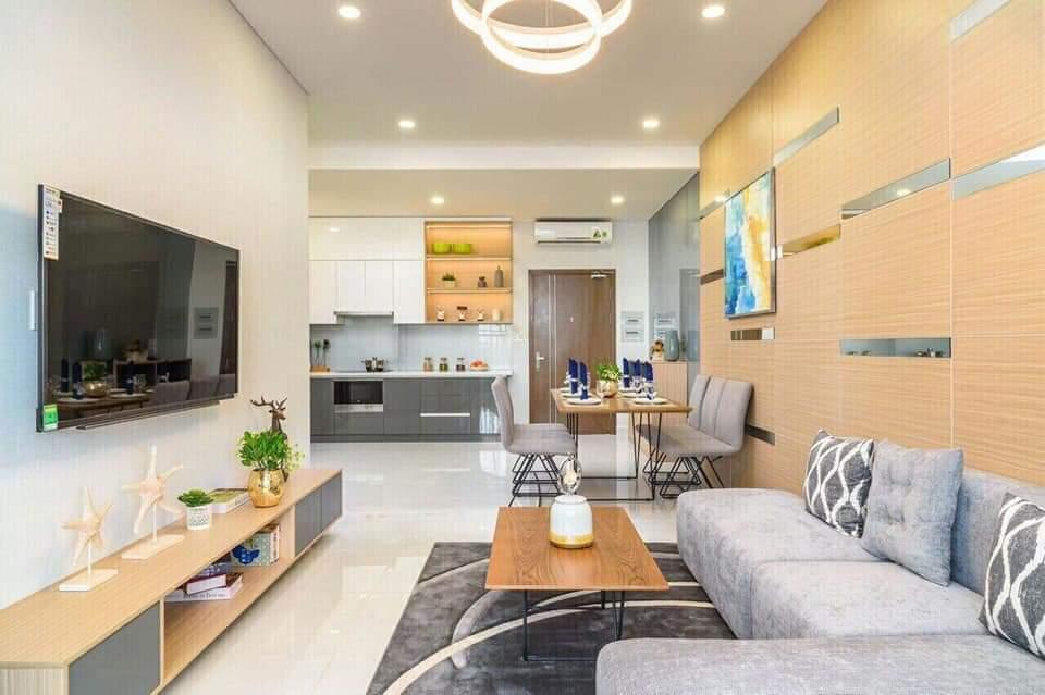 Phối cảnh không gian phòng khách căn hộ dự án The EastGate