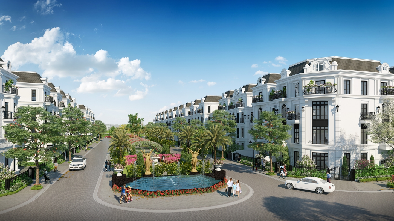 Phối cảnh khu nhà liền kề và biệt thự của dự án Elegant Park Villa