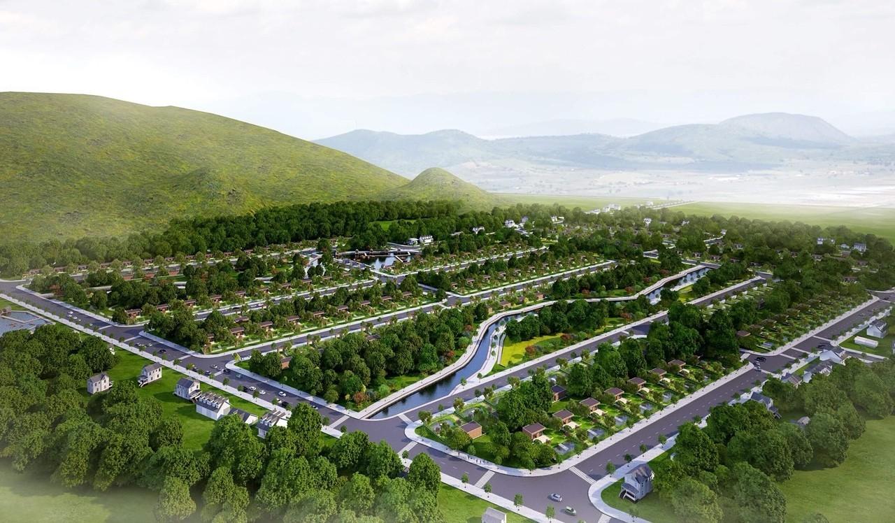 Phối cảnh tổng thể dự án khu dân cư Tân Hòa Eco Lake