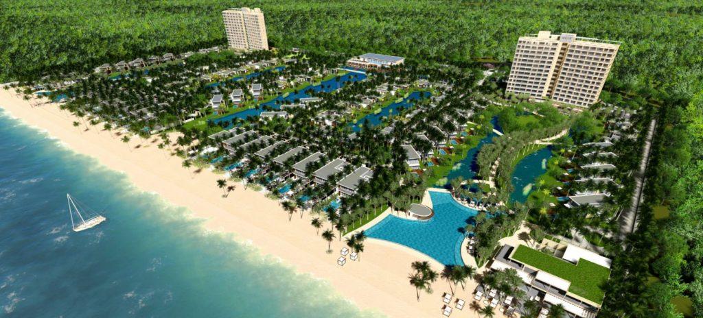 Phối cảnh tổng thể dự án The Hamptons Hồ Tràm