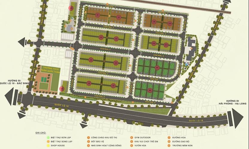 Mặt bằng phân lô dự án Central City