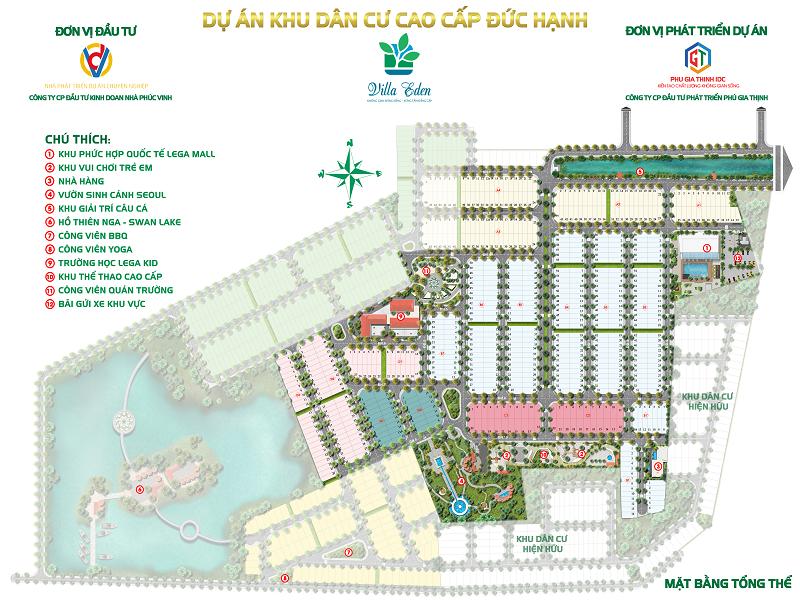 Mặt bằng tổng thể dự án khu dân cư Đức Hạnh tỉnh Long An